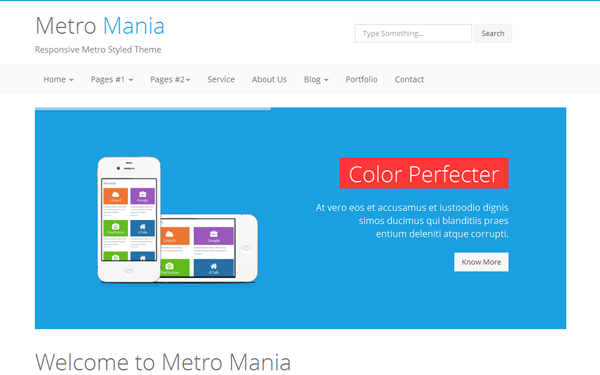 Collection of 5 Best Metro Style Bootstrap Theme